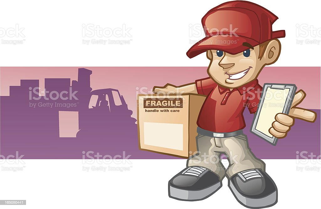 We Deliver royalty-free stock vector art