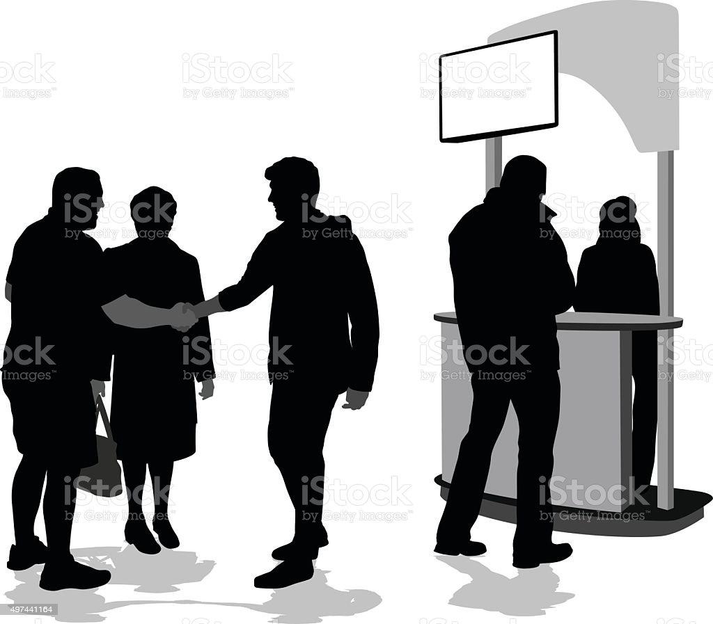 We Finally Meet vector art illustration