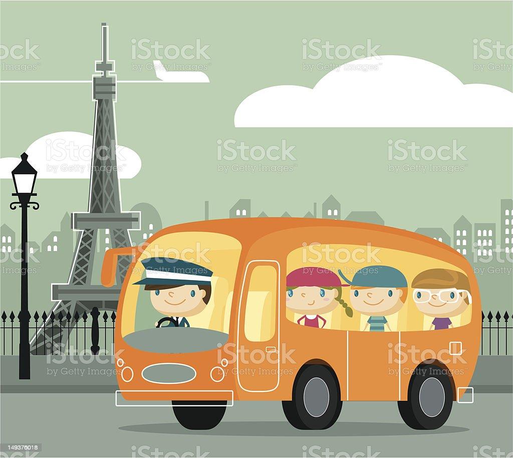 We Love Paris vector art illustration