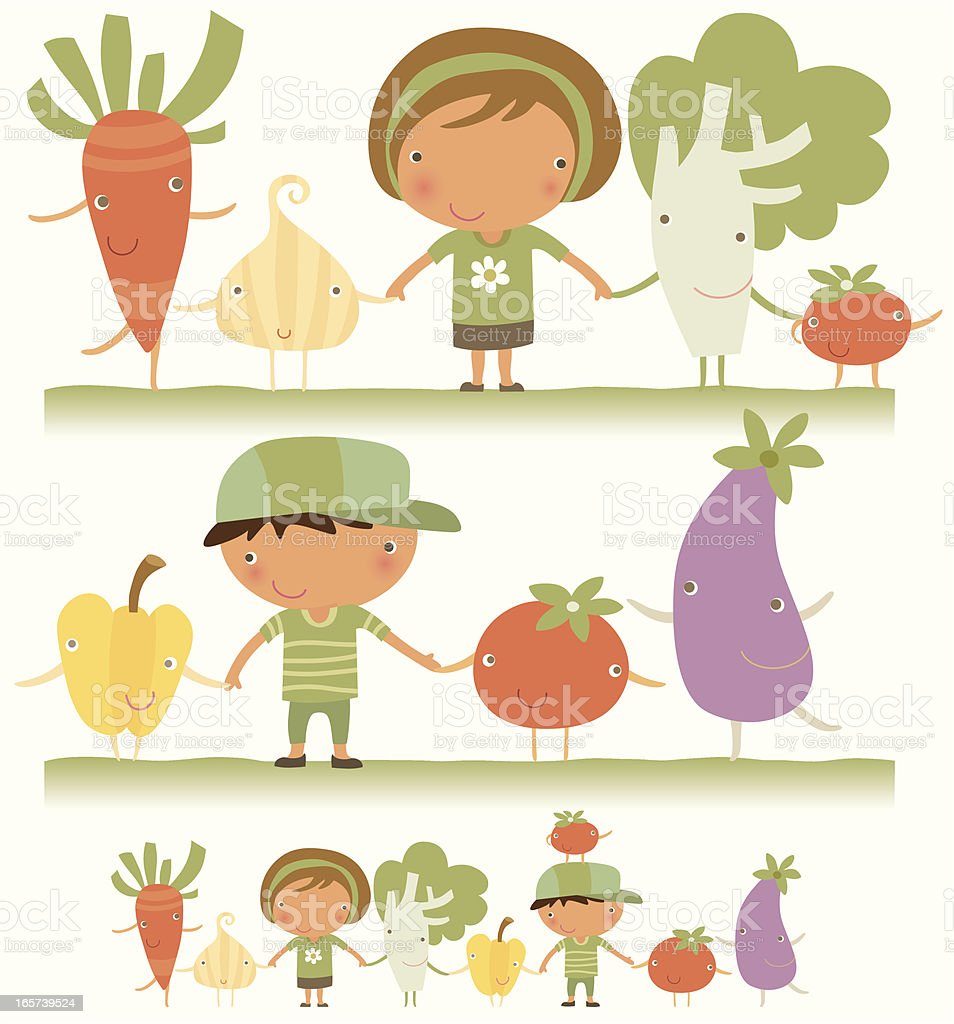 We love vegetable royalty-free stock vector art