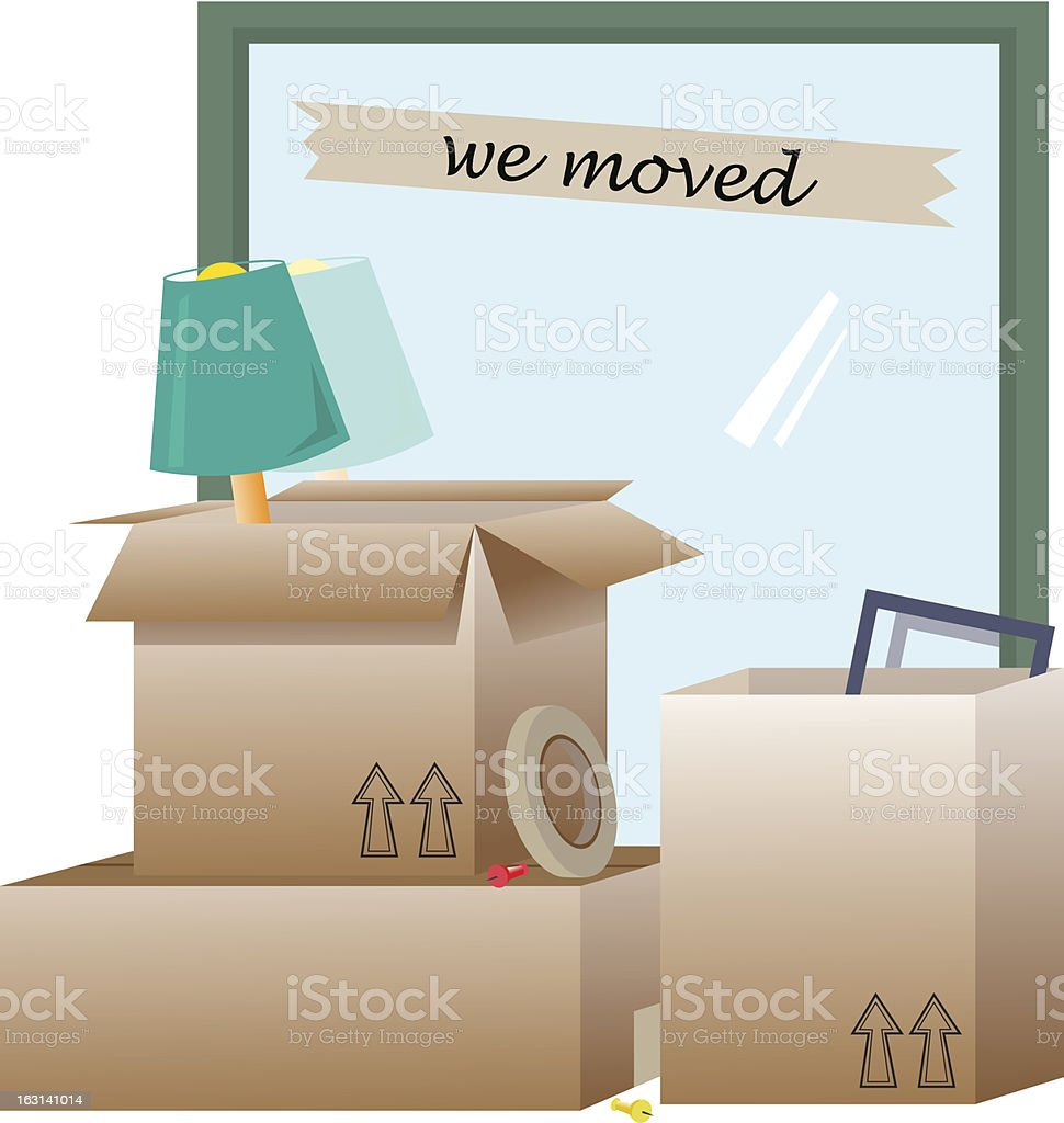 We Moved royalty-free stock vector art