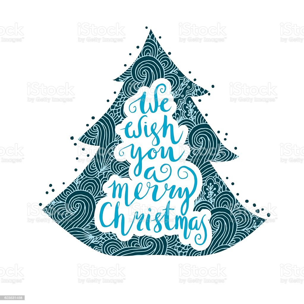 We wish you a merry Christmas royalty-free stock vector art