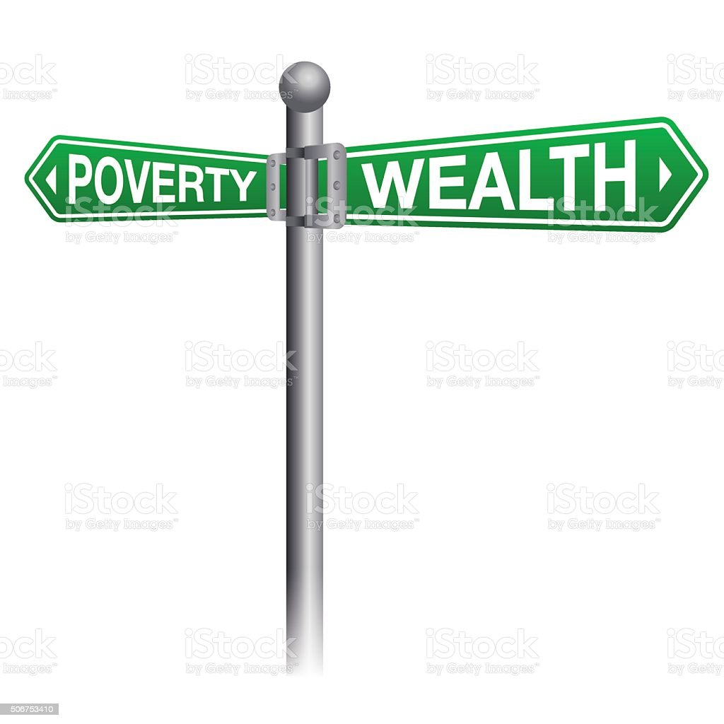 Wealth and Poverty Sign Concept vector art illustration
