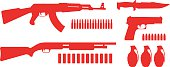 Weapon game resources silhouettes pack