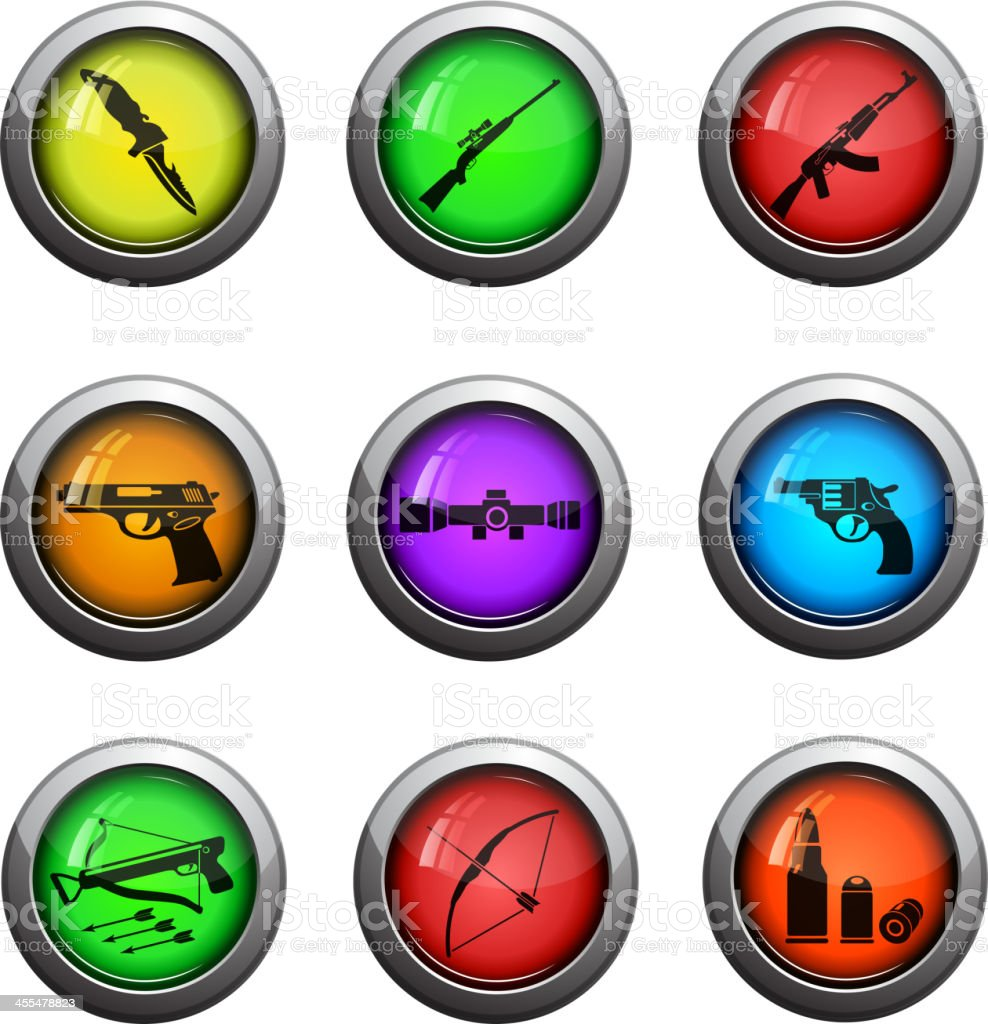 Weapon icon set royalty-free stock vector art