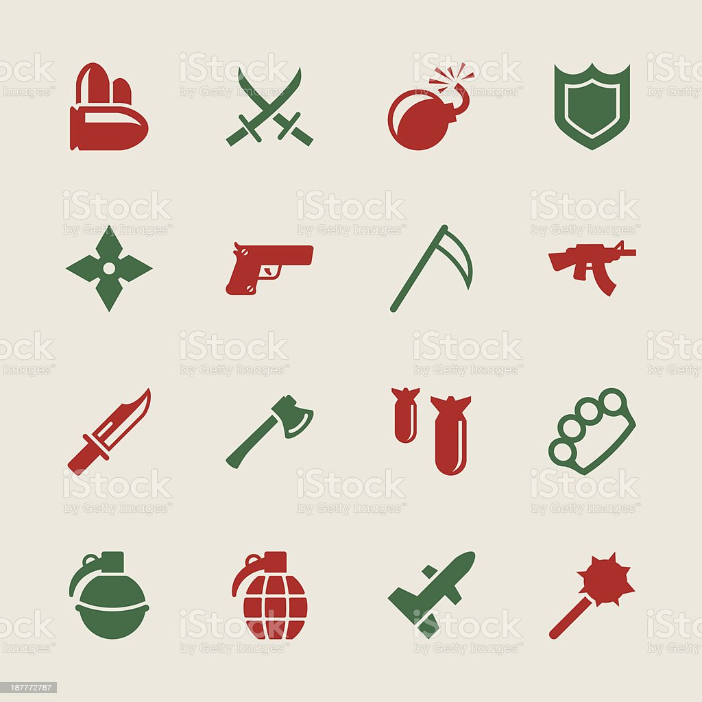 Weapon Icons - Color Series | EPS10 royalty-free stock vector art