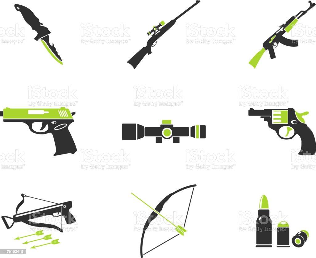 Weapon symbols vector art illustration