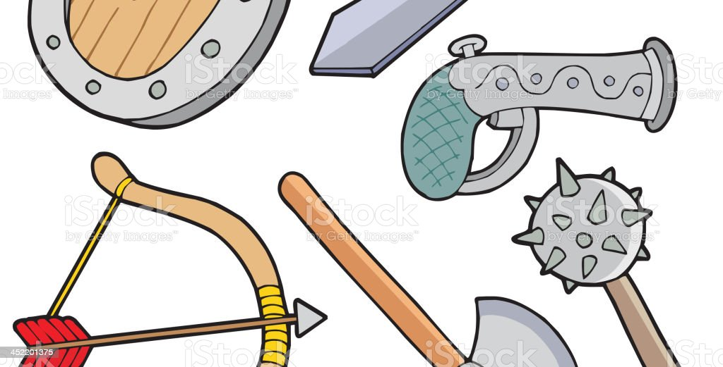 Weapons collection royalty-free stock vector art