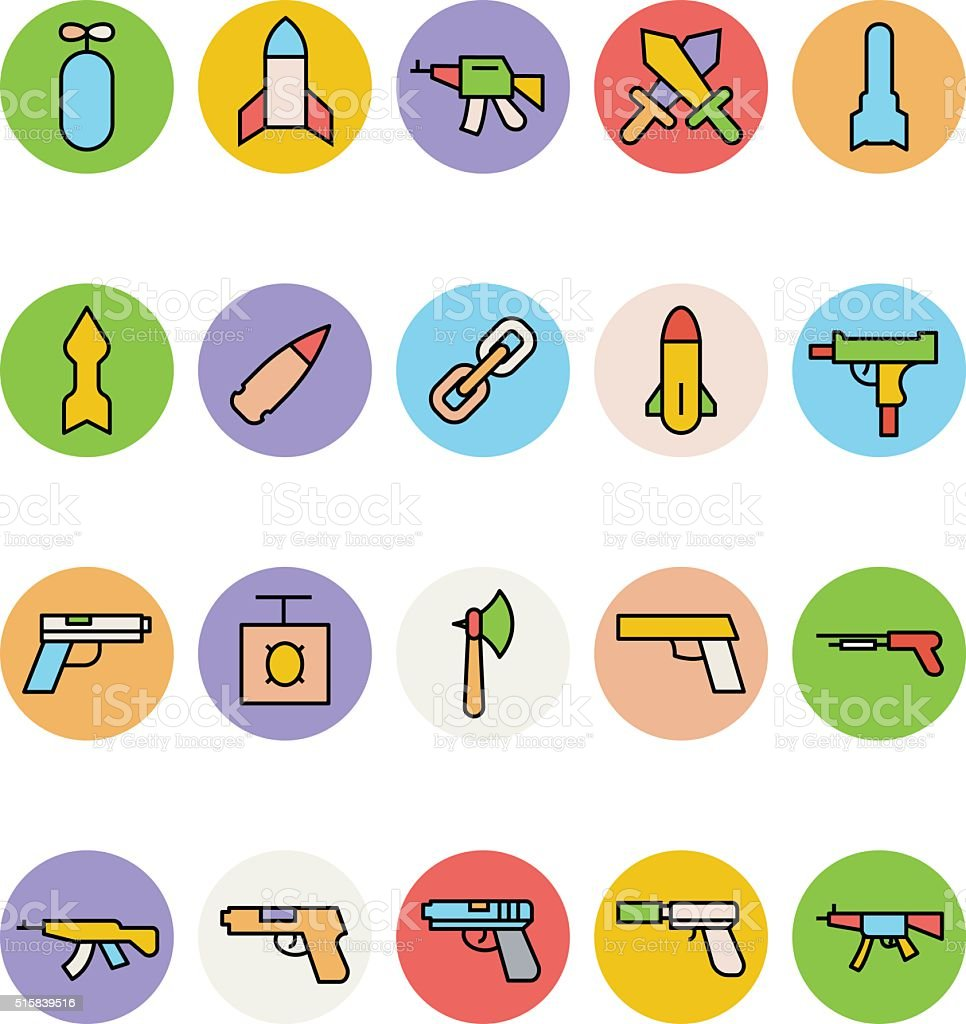 Weapons Vector Icons 5 vector art illustration