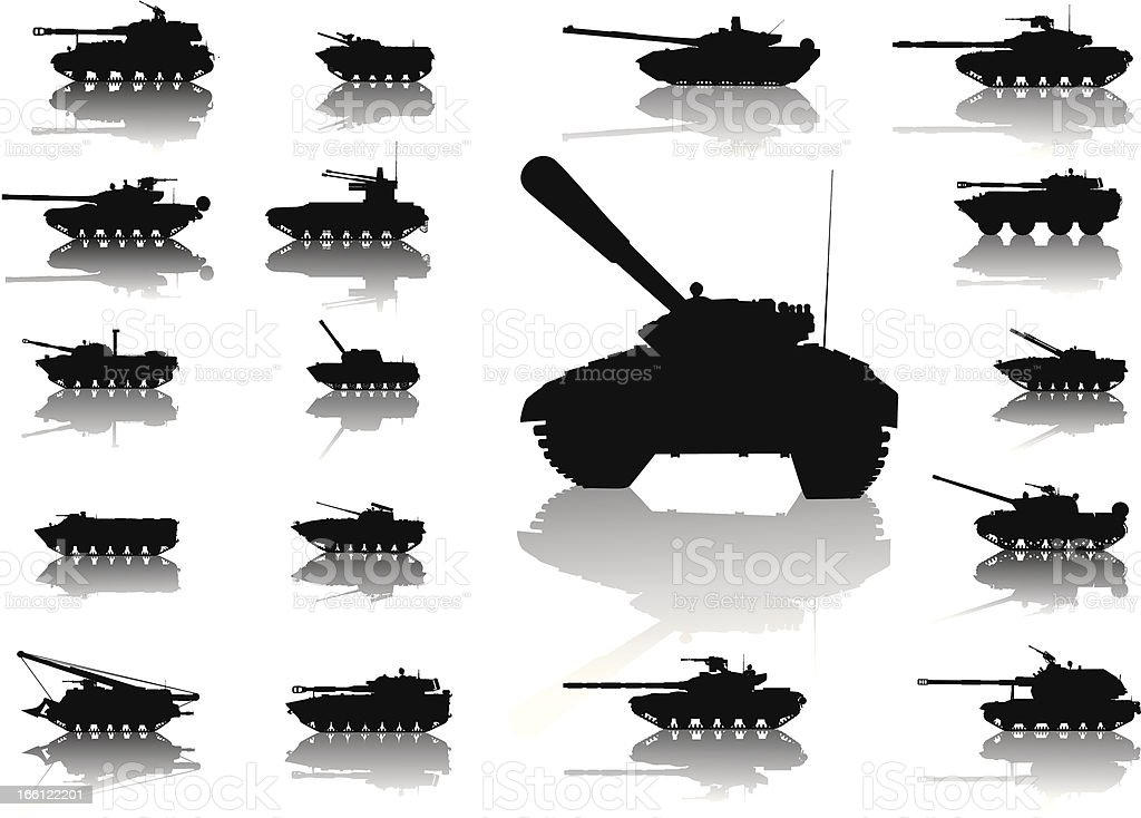Weapon.Tanks vector art illustration