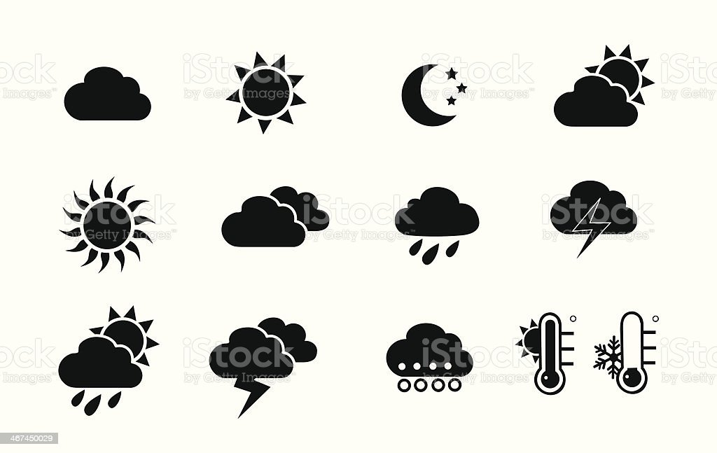 Weather and seasons vector art illustration