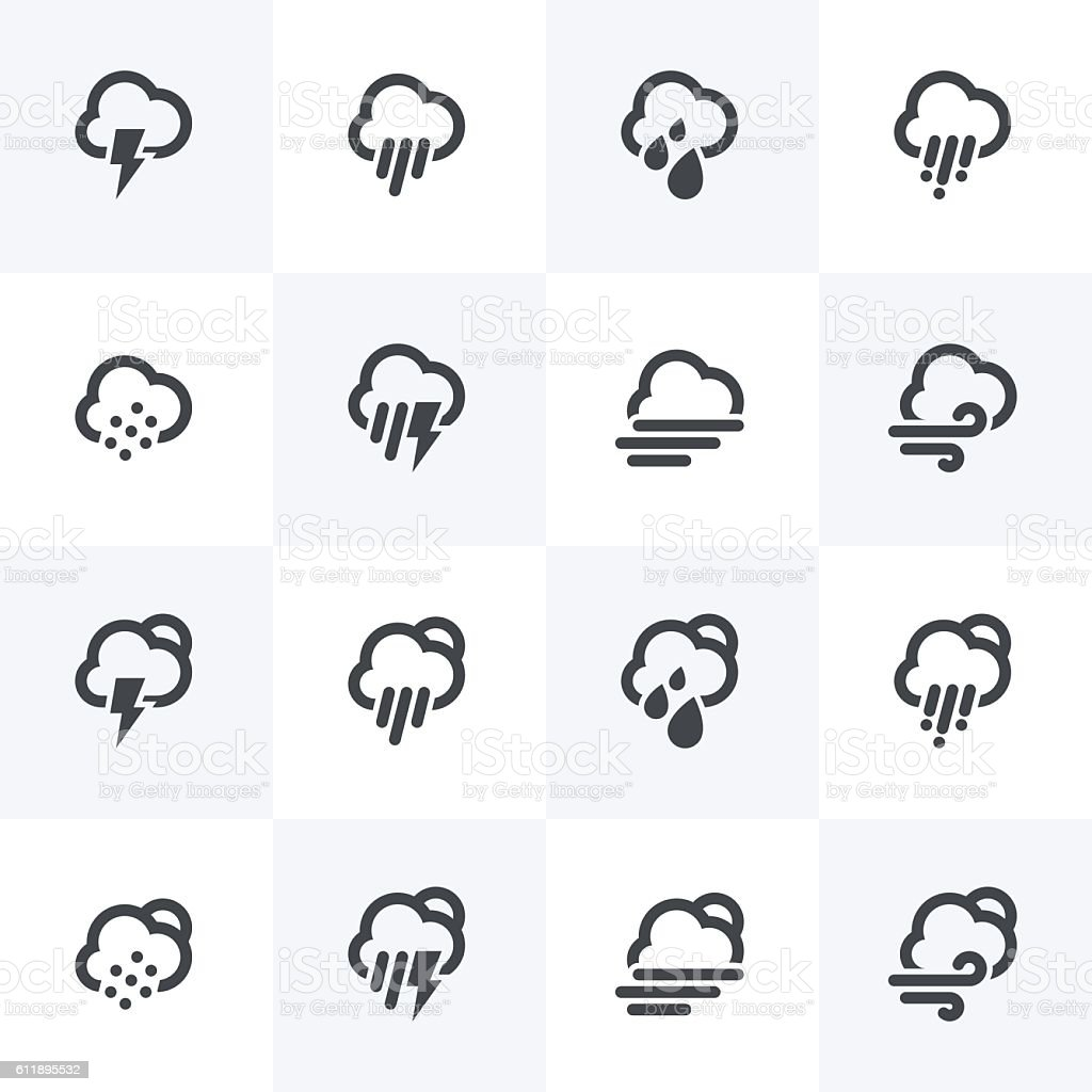 Weather Condition Icons - Sightly Collection vector art illustration