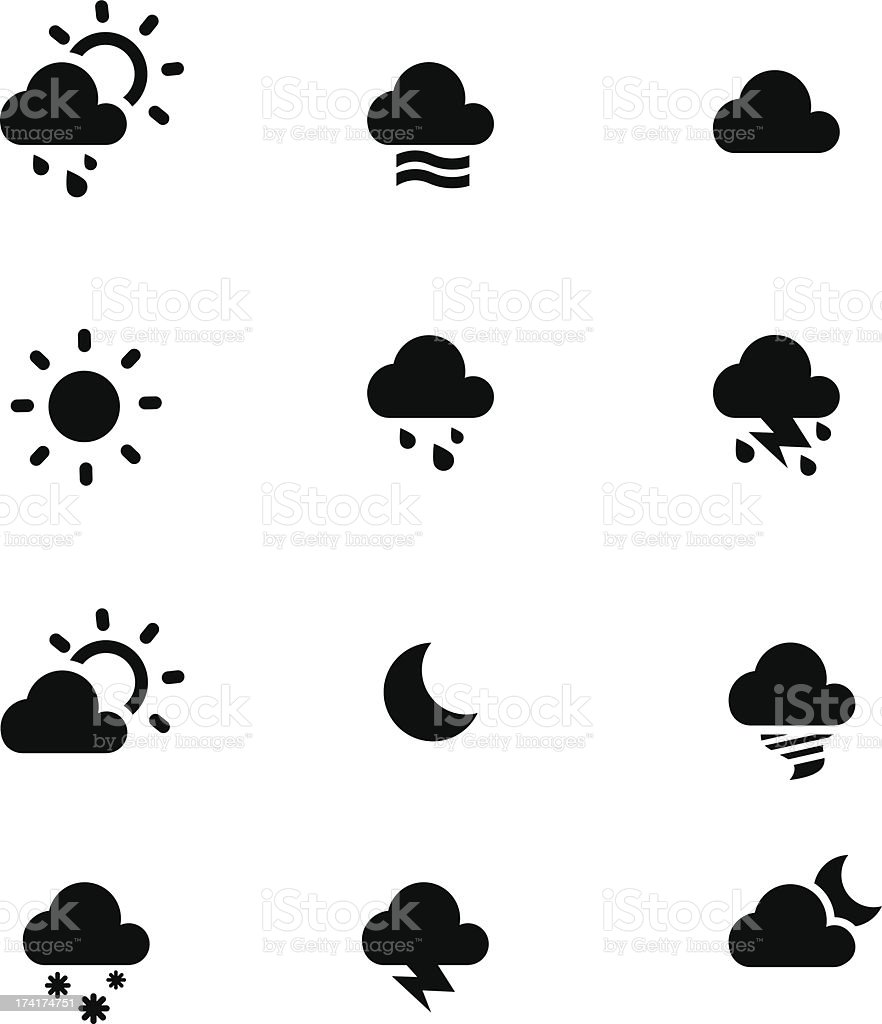 Weather conditions royalty-free stock vector art