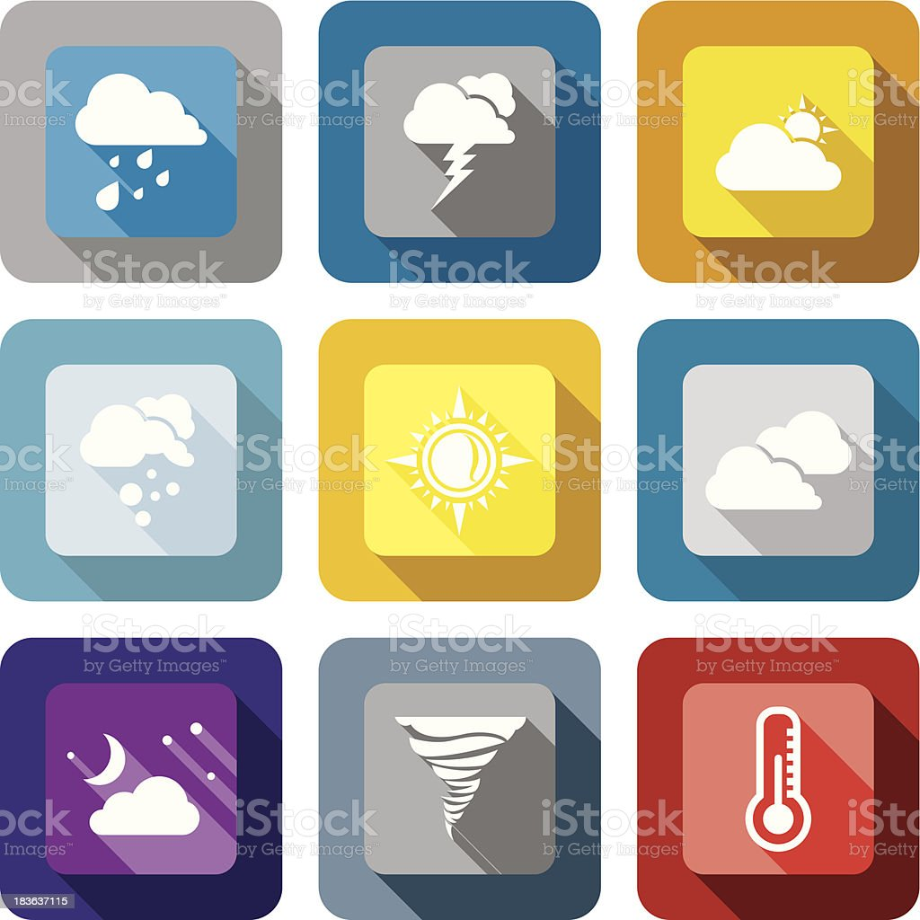Weather design icon set royalty-free stock vector art