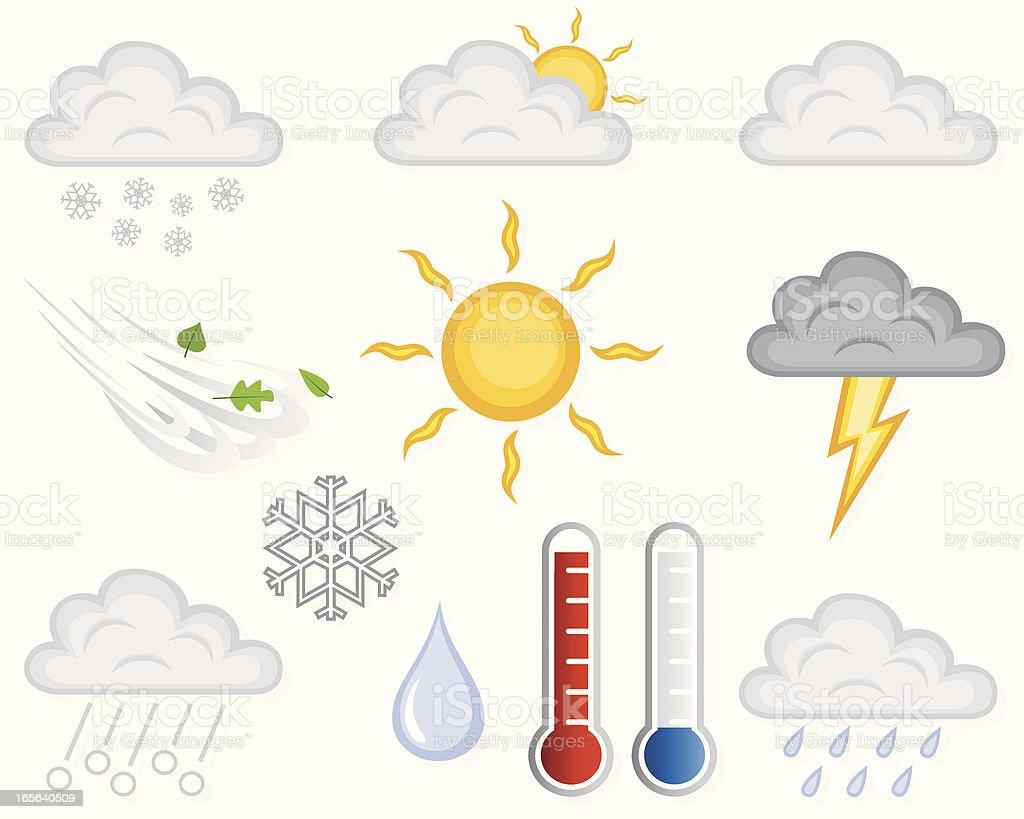 Weather Elements vector art illustration
