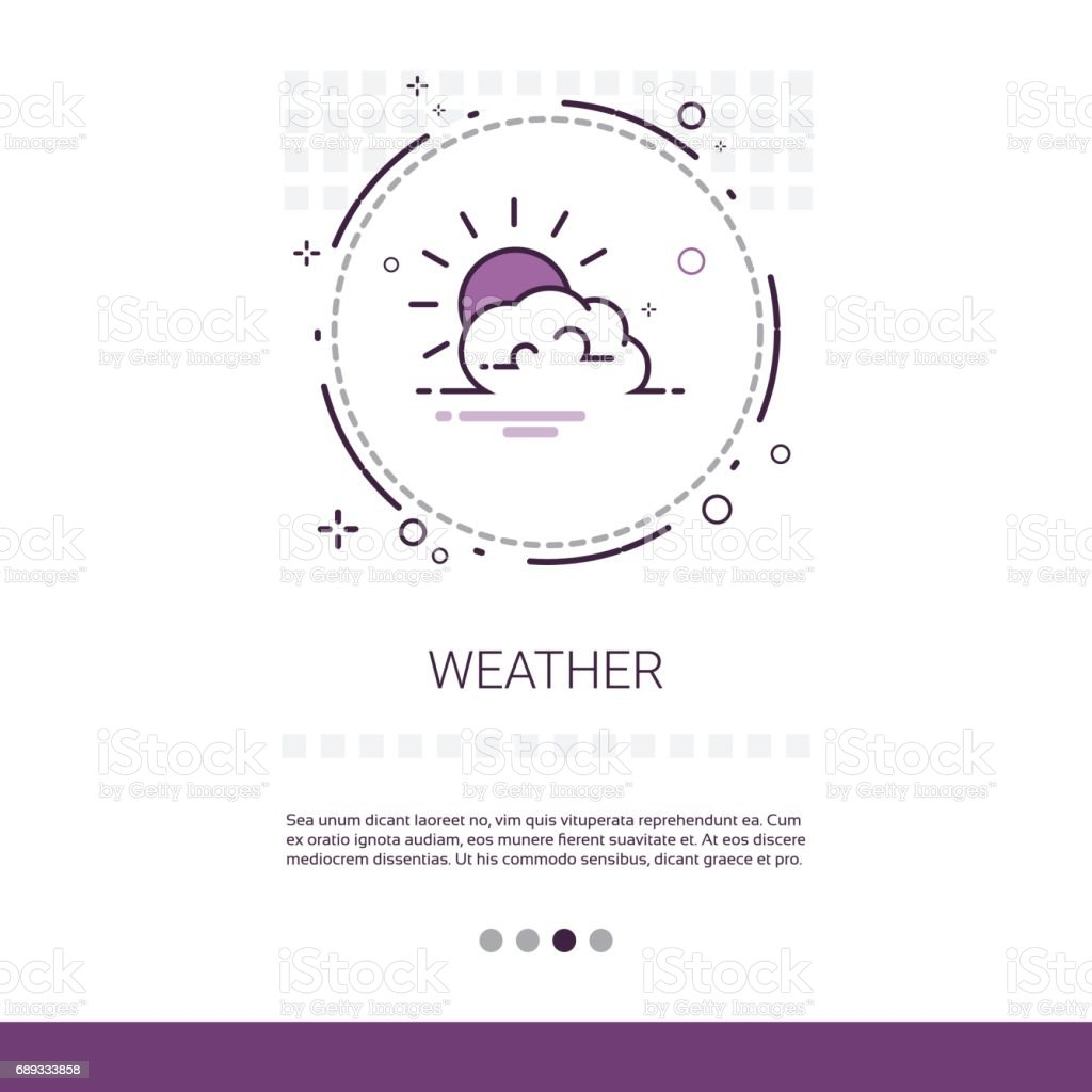 Weather Forecast Application Mobile Interface Web Banner With Copy Space vector art illustration