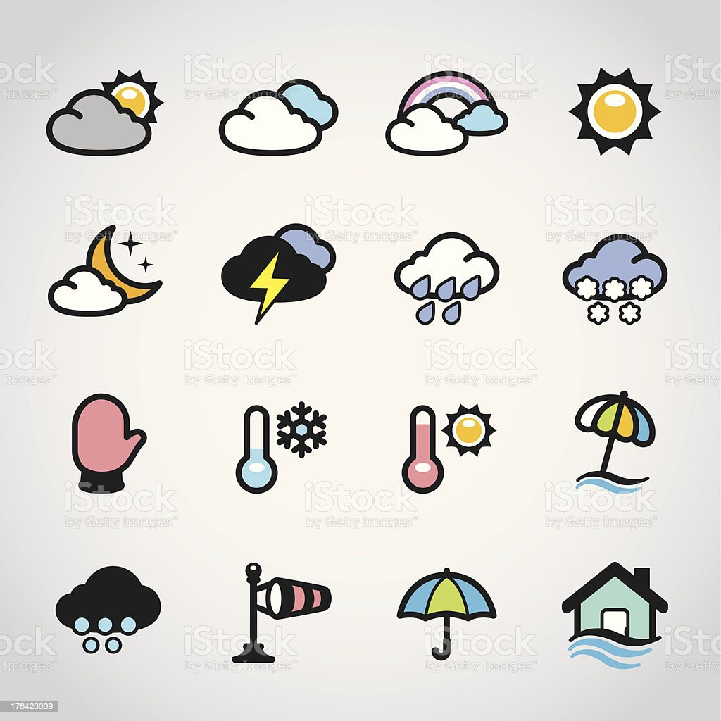 Weather Forecast / Fabrico icons royalty-free stock vector art