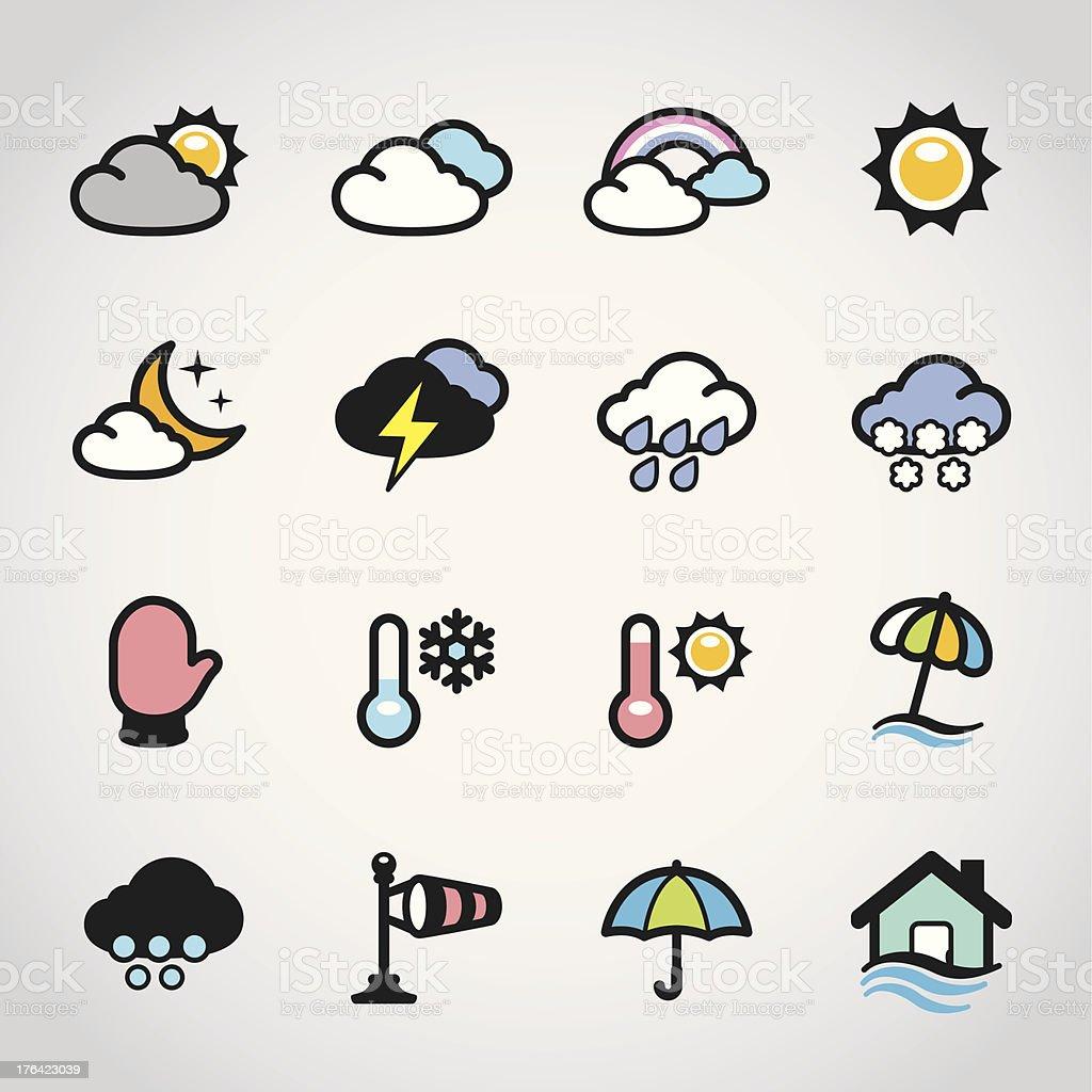 Weather Forecast / Fabrico icons vector art illustration