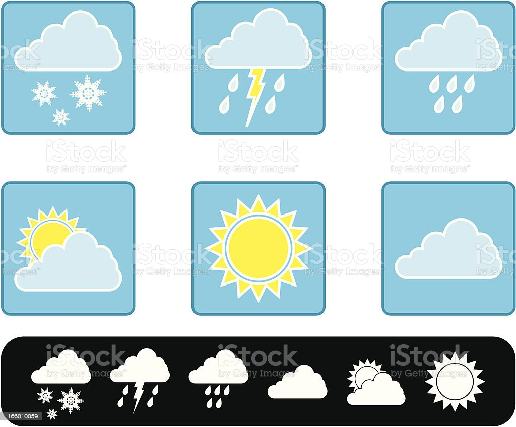 weather forecast set royalty-free stock vector art
