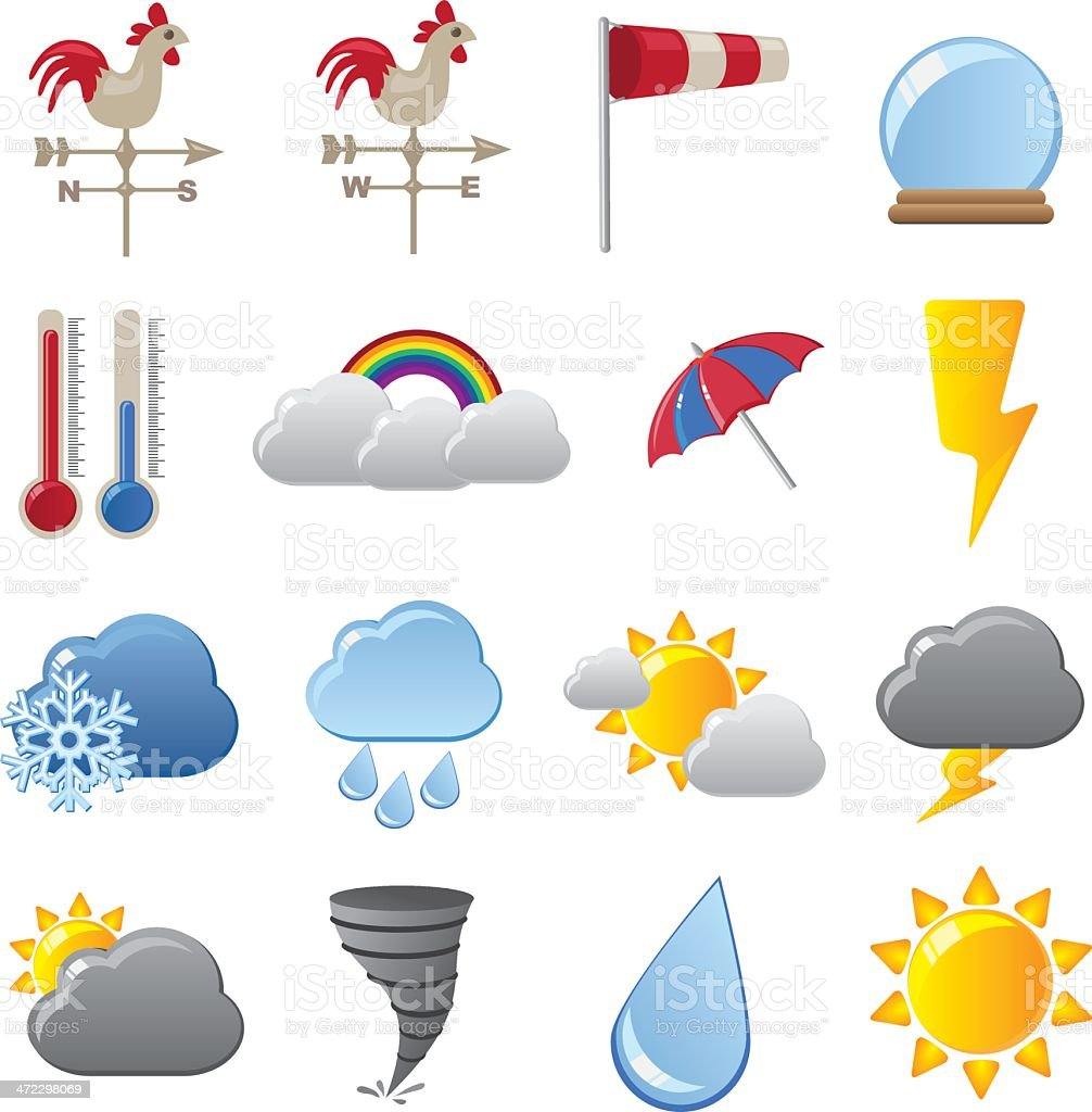 Weather Forecasting royalty-free stock vector art