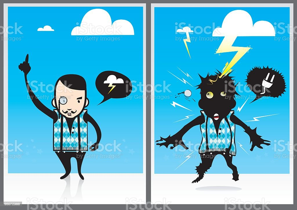 Weather forecasts royalty-free stock vector art