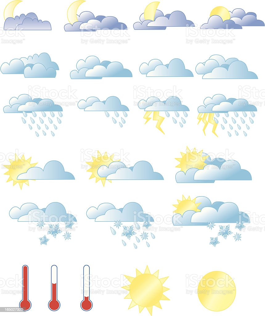 Weather Graphics royalty-free stock vector art