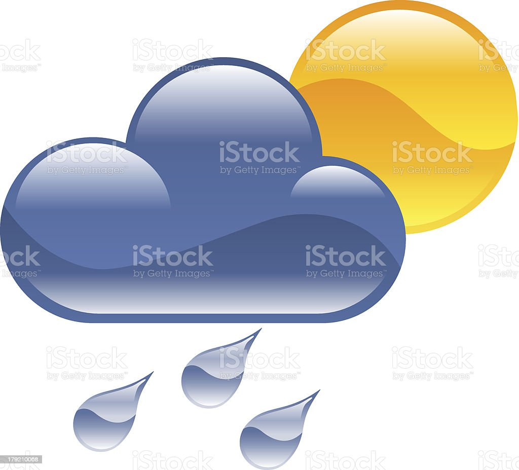 Weather icon clipart illustration vector art illustration
