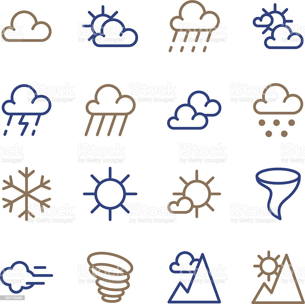 Weather Icon - Line Color Series royalty-free stock vector art