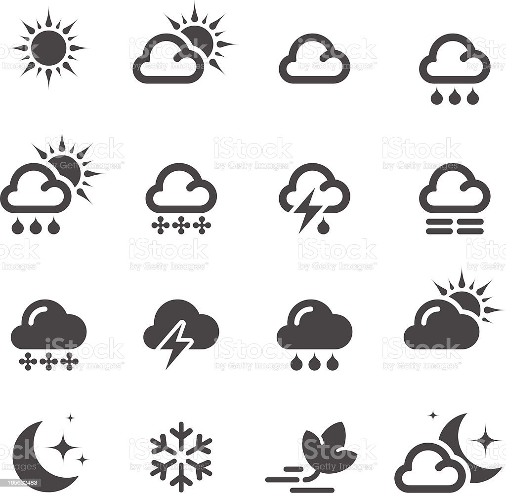 Weather icon | set 01 royalty-free stock vector art
