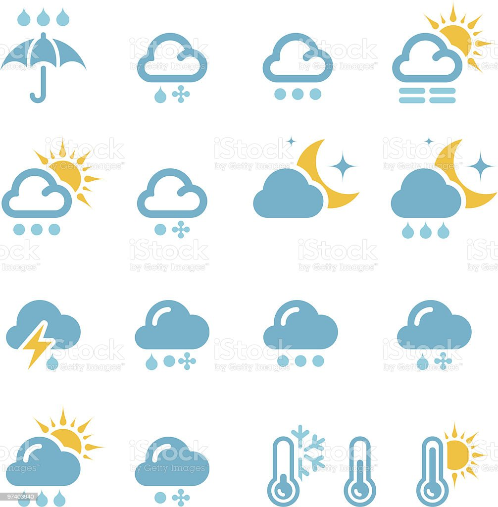 Weather icon   set 02 royalty-free stock vector art