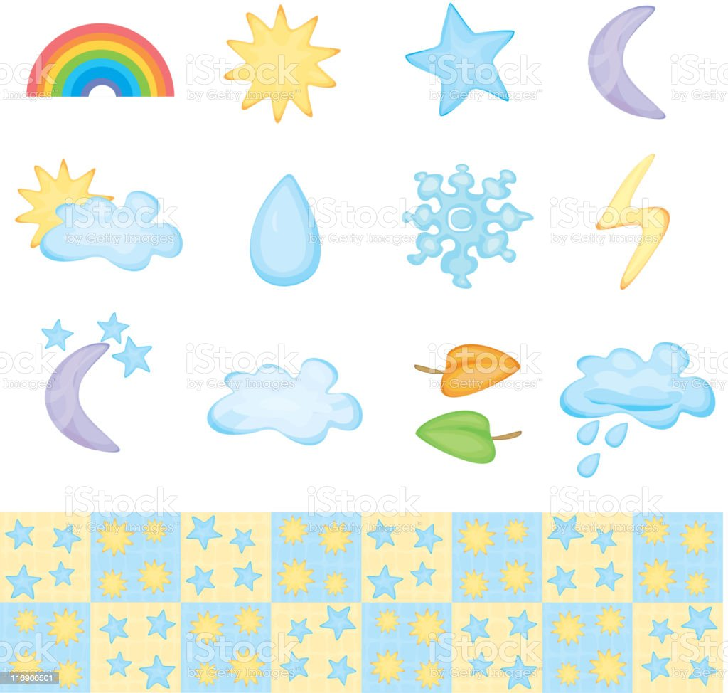 Weather icon set. royalty-free stock vector art