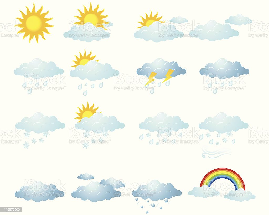 Weather Icon vector art illustration