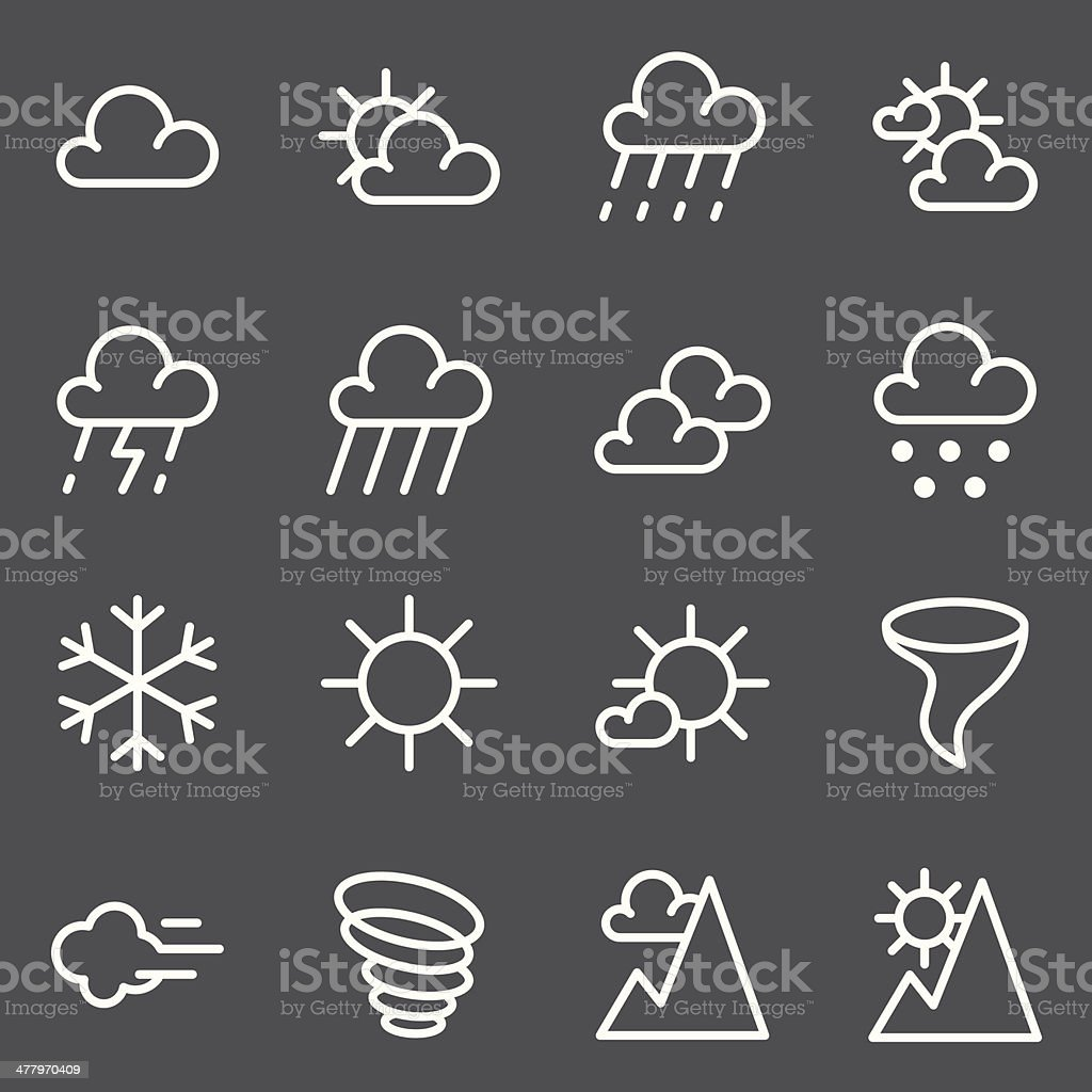 Weather Icon - White Series royalty-free stock vector art