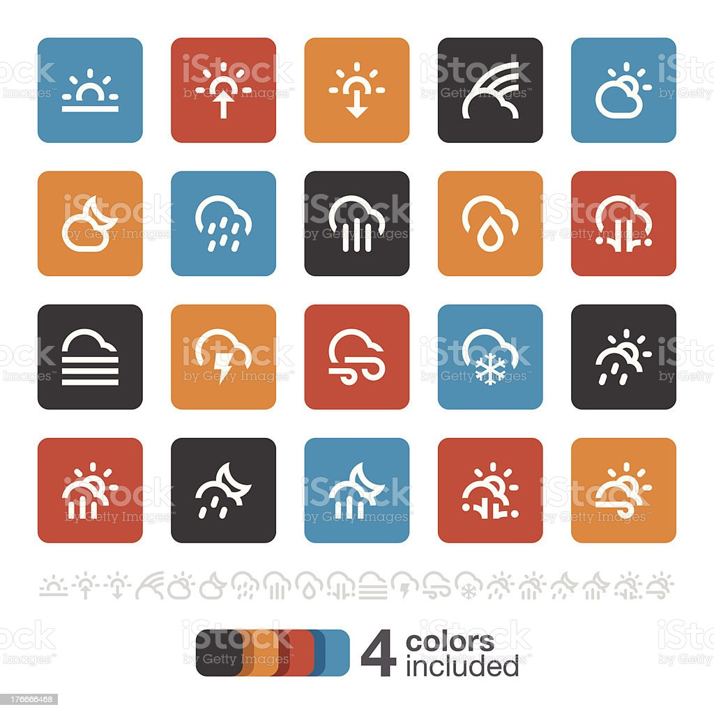 Weather icons 2 | Brooklyn Series royalty-free stock vector art