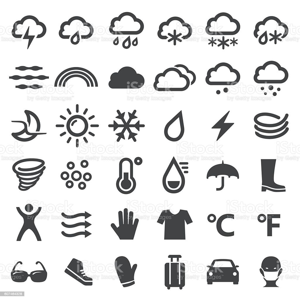 Weather Icons - Big Series vector art illustration