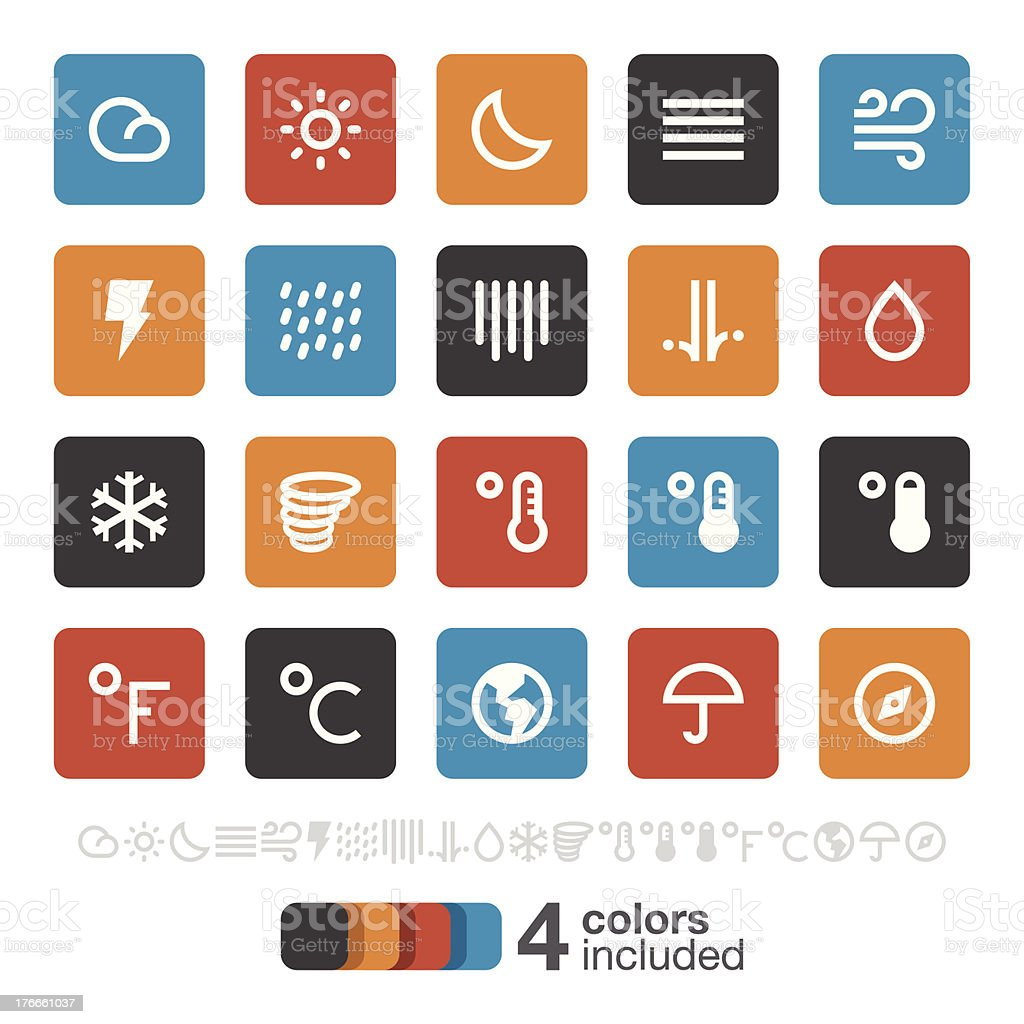 Weather icons | Brooklyn Series royalty-free stock vector art