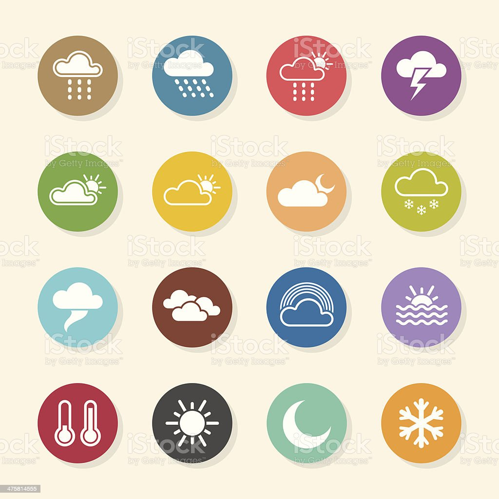 Weather Icons - Color Circle Series royalty-free stock vector art