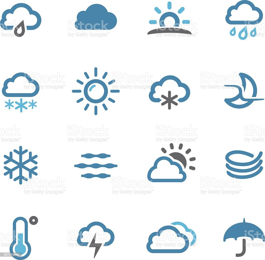 Weather Icons - Conc Series vector art illustration