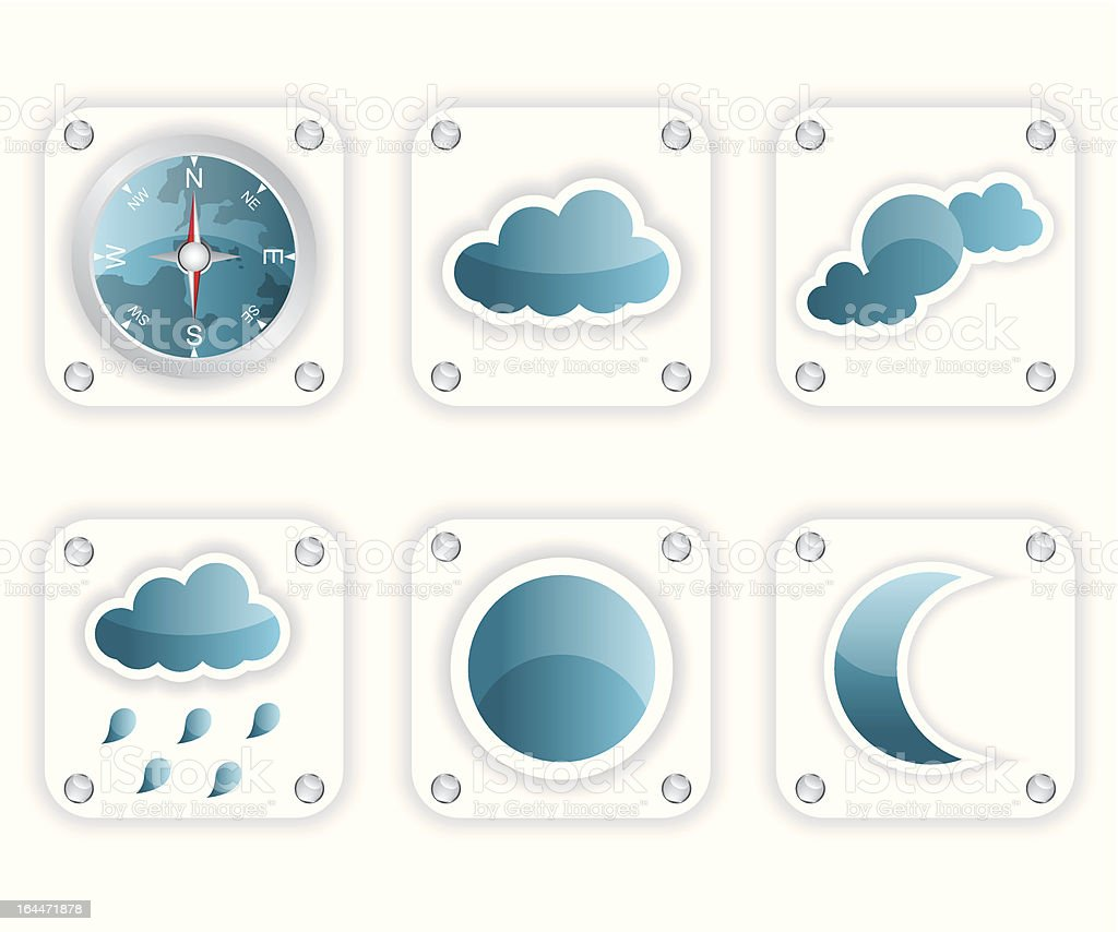 Weather icons illustration royalty-free stock vector art
