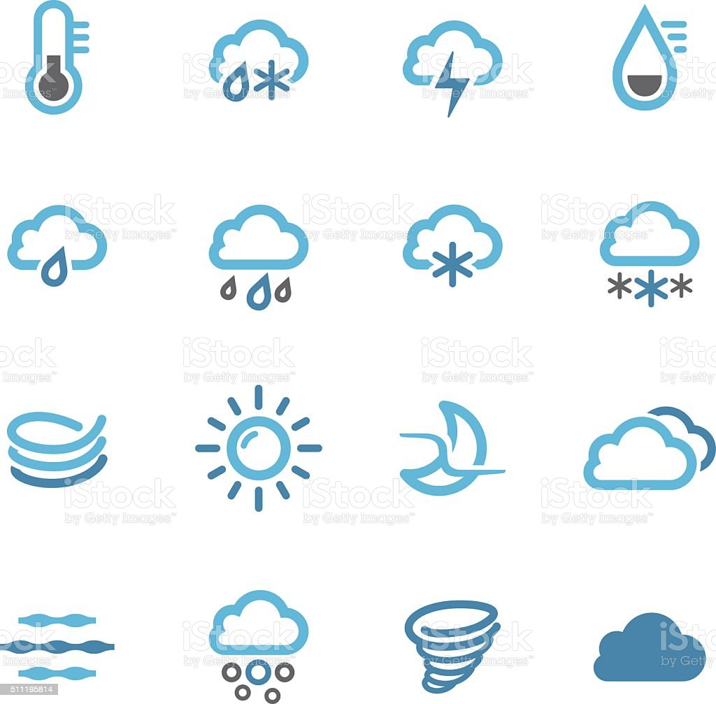 Weather Icons Set - Conc Series vector art illustration