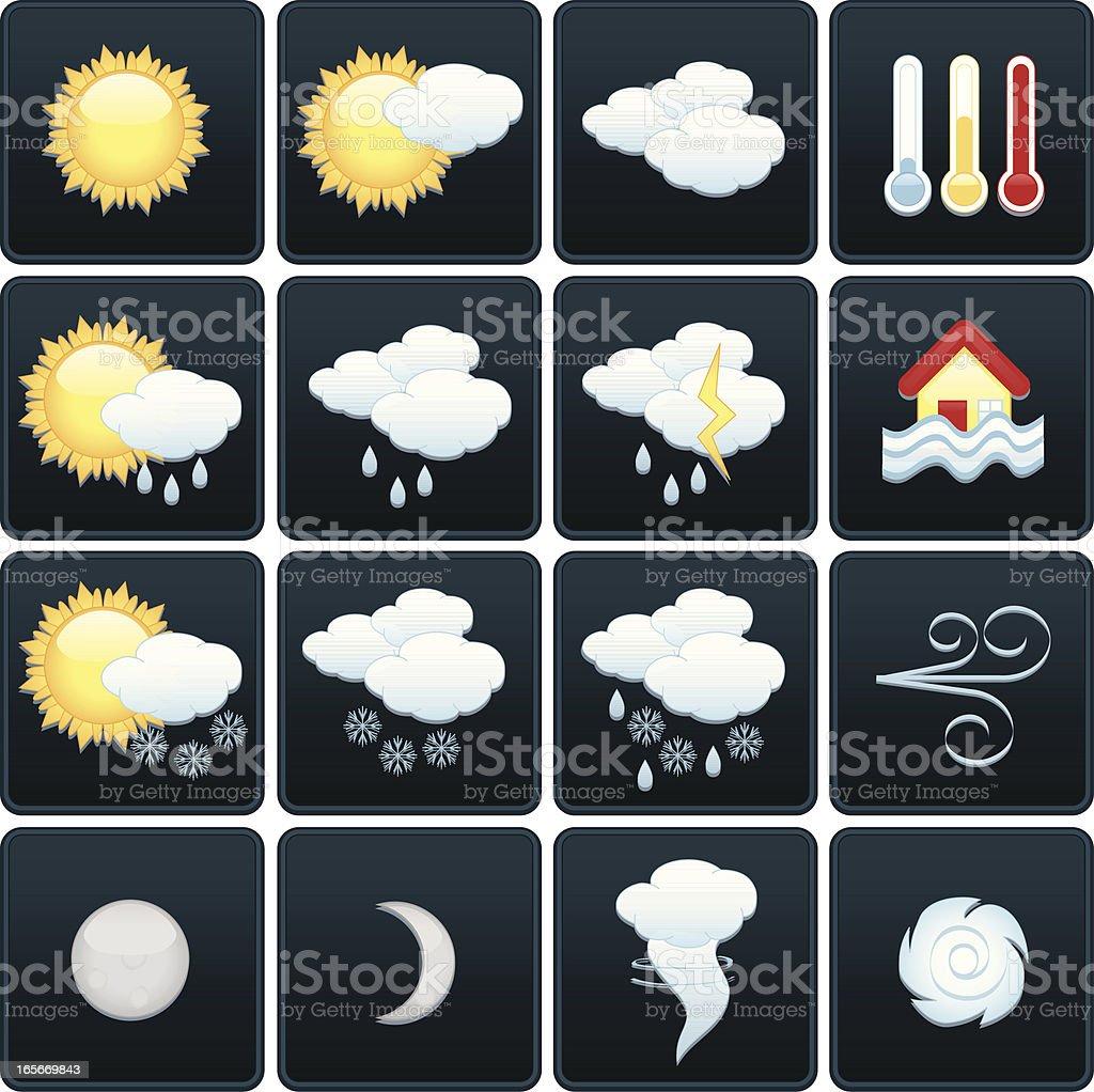 Wetter-Icons Set Lizenzfreies vektor illustration