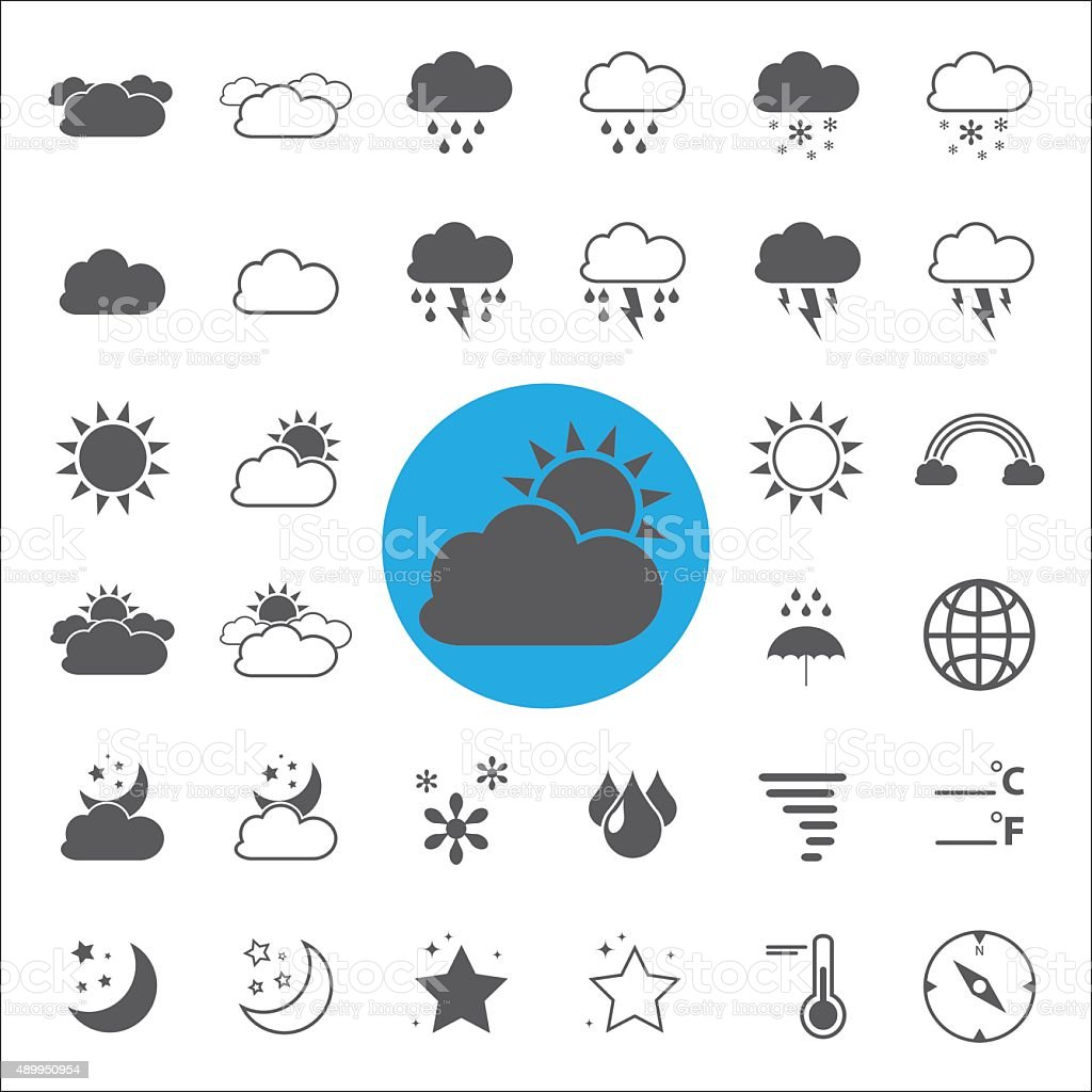 Weather icons set.vector/illustration. vector art illustration
