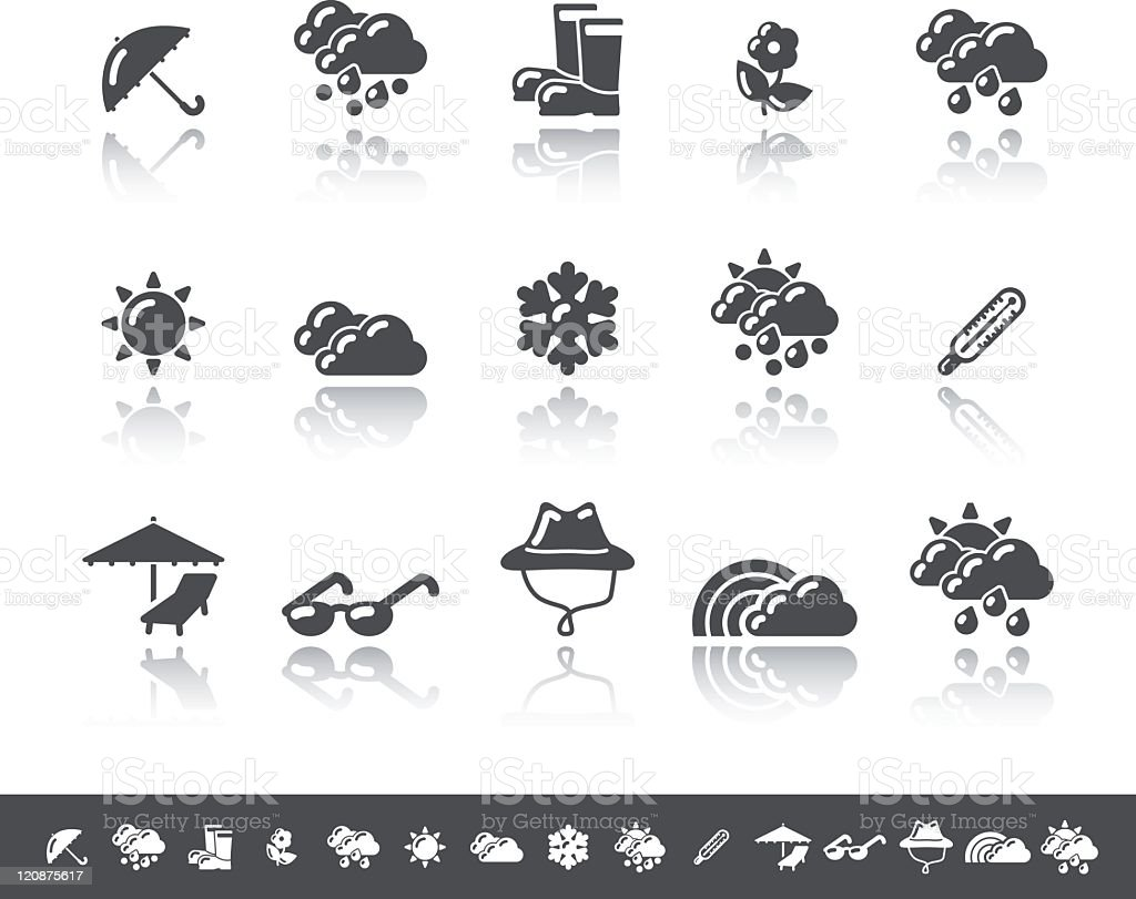 Weather Icons | Simple Grey royalty-free stock vector art