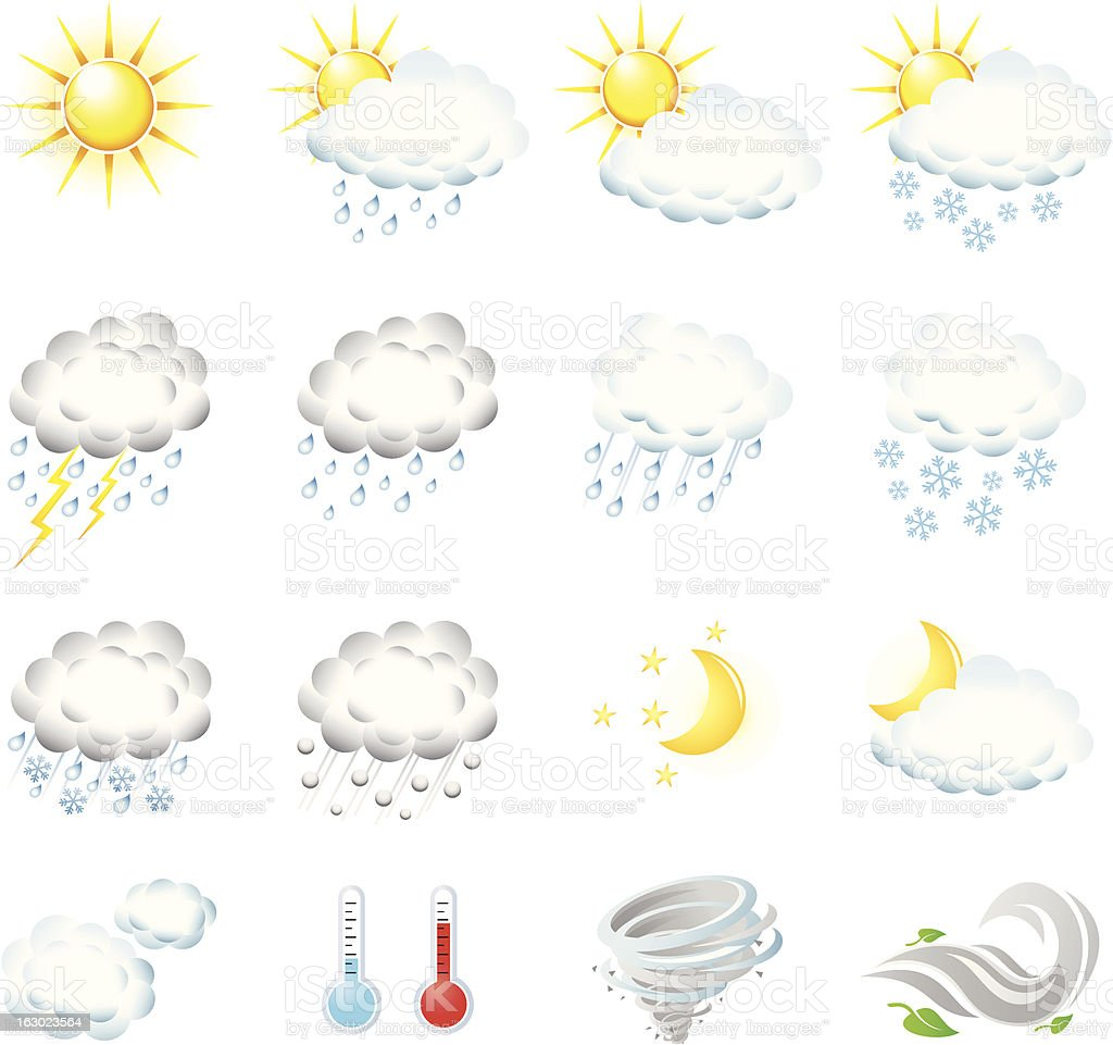 Weather Icons royalty-free stock vector art