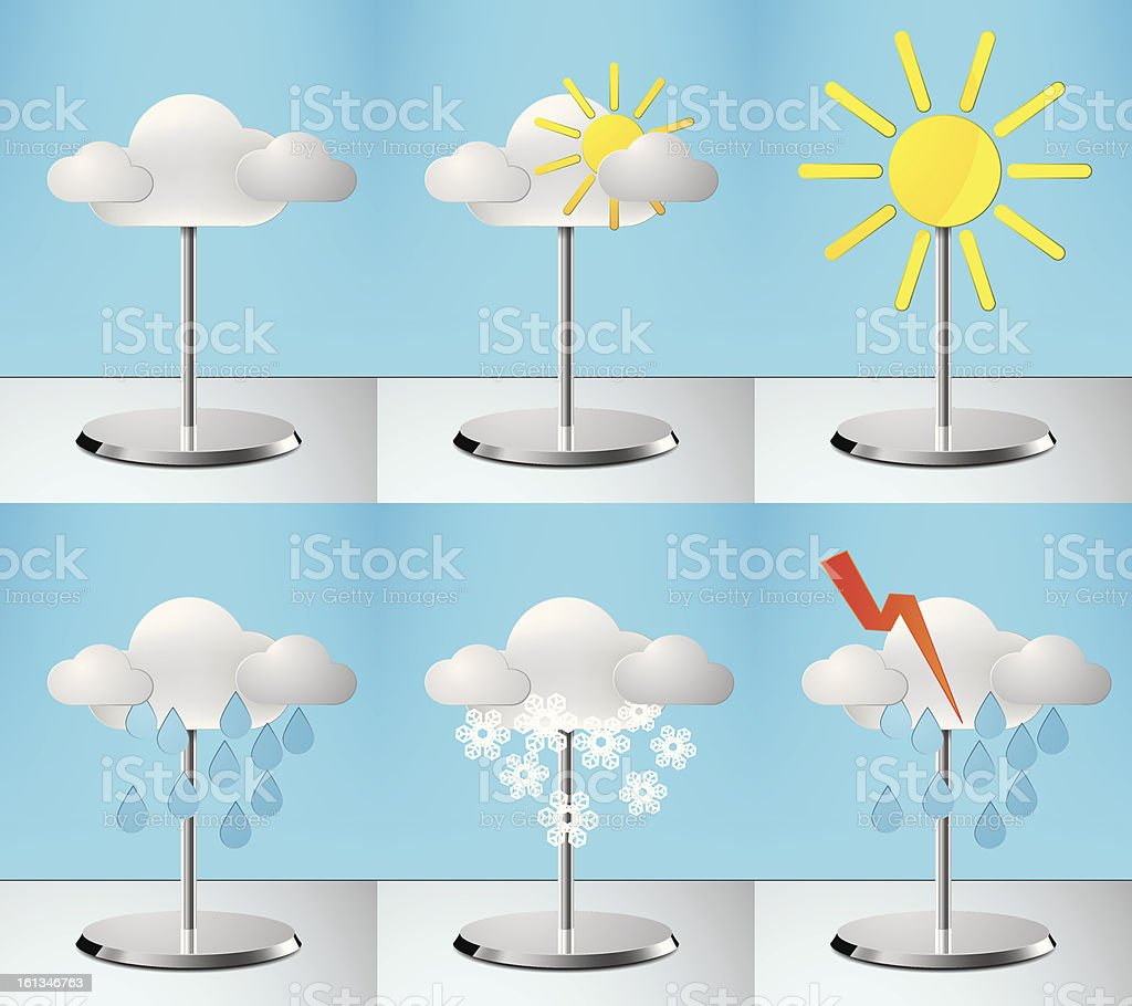 Weather icons vector royalty-free stock vector art