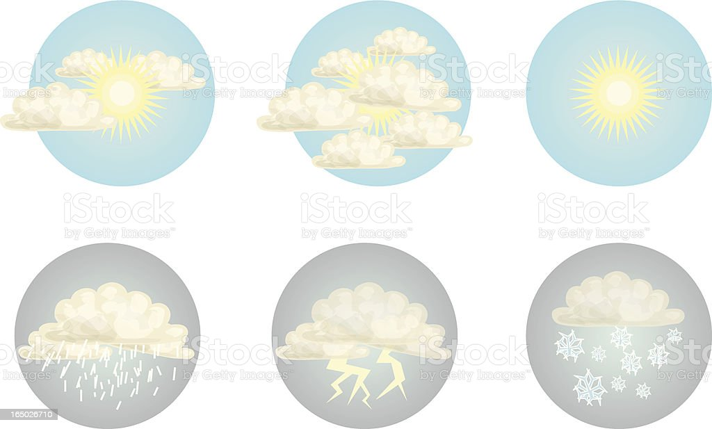 Weather Icons - Vector vector art illustration