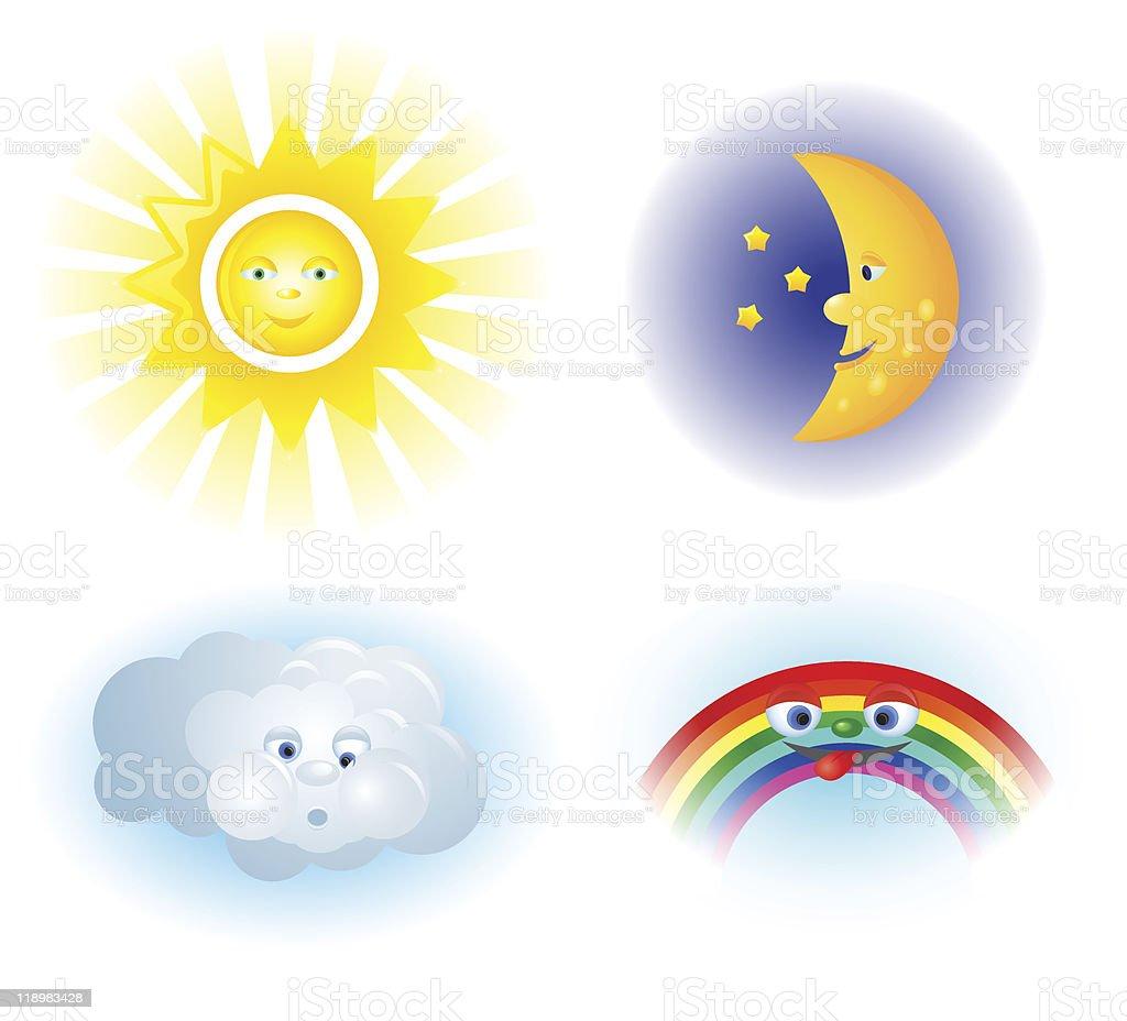 Weather illustration vector art illustration
