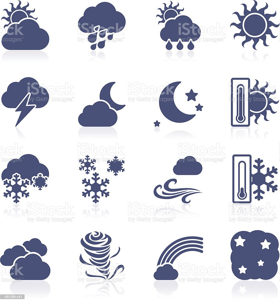 Weather interface icon royalty-free stock vector art