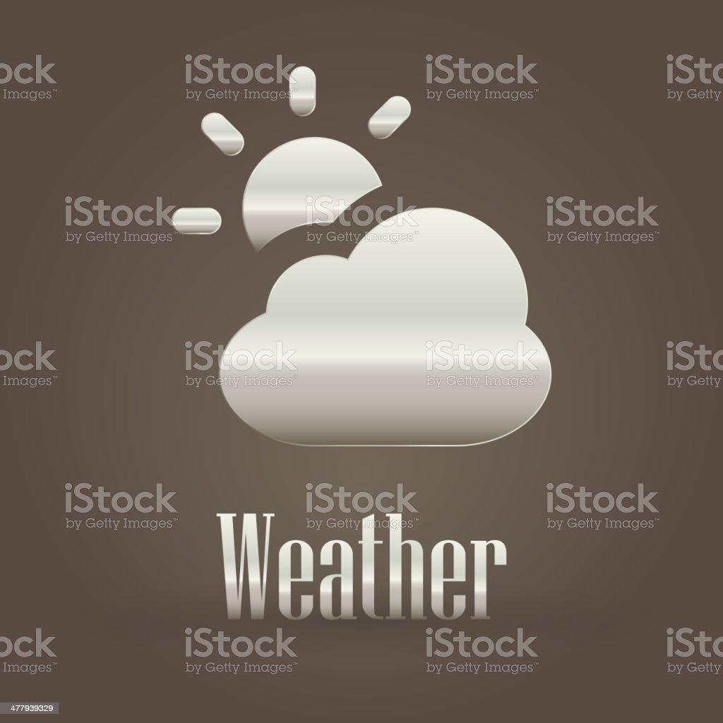 Weather metallic symbol royalty-free stock vector art