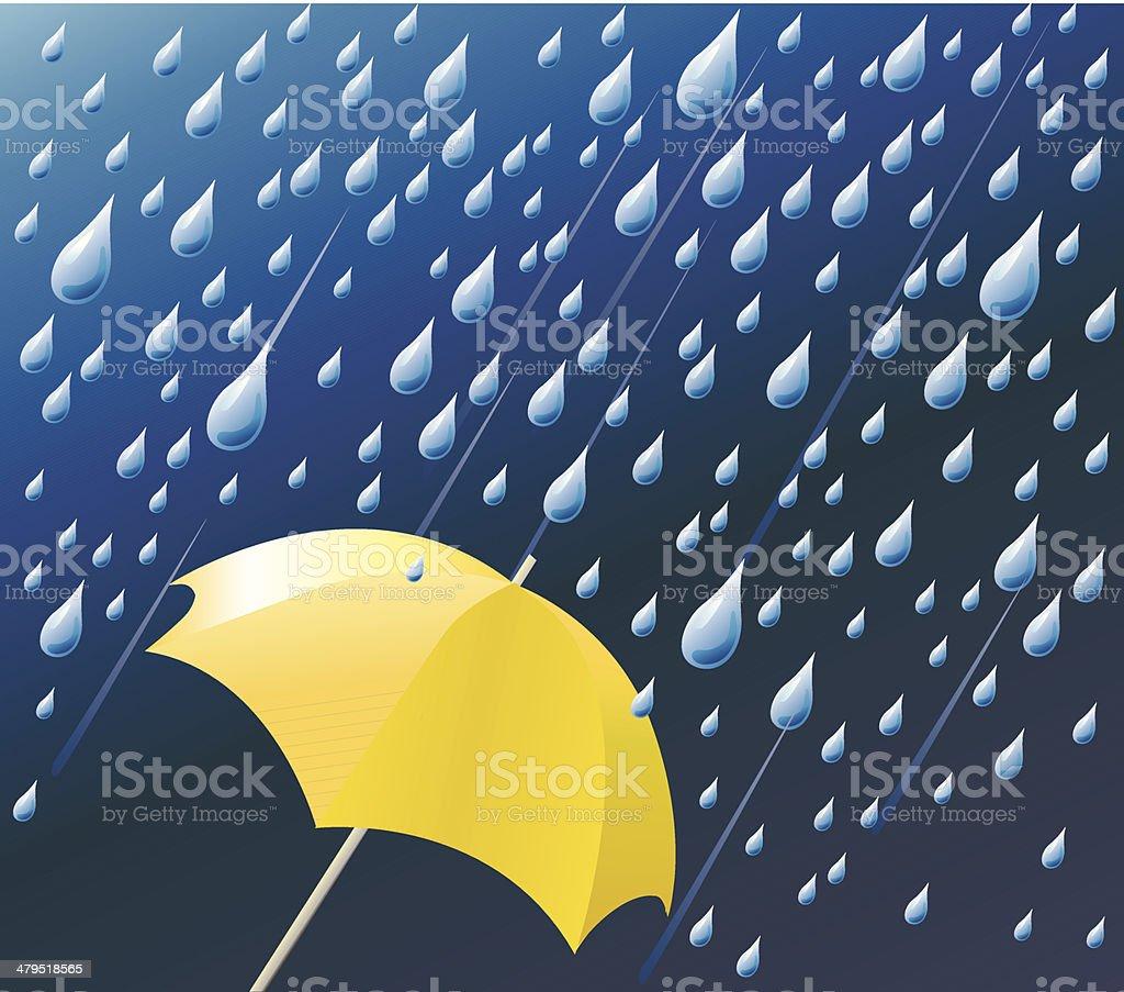 Weather - rain vector art illustration